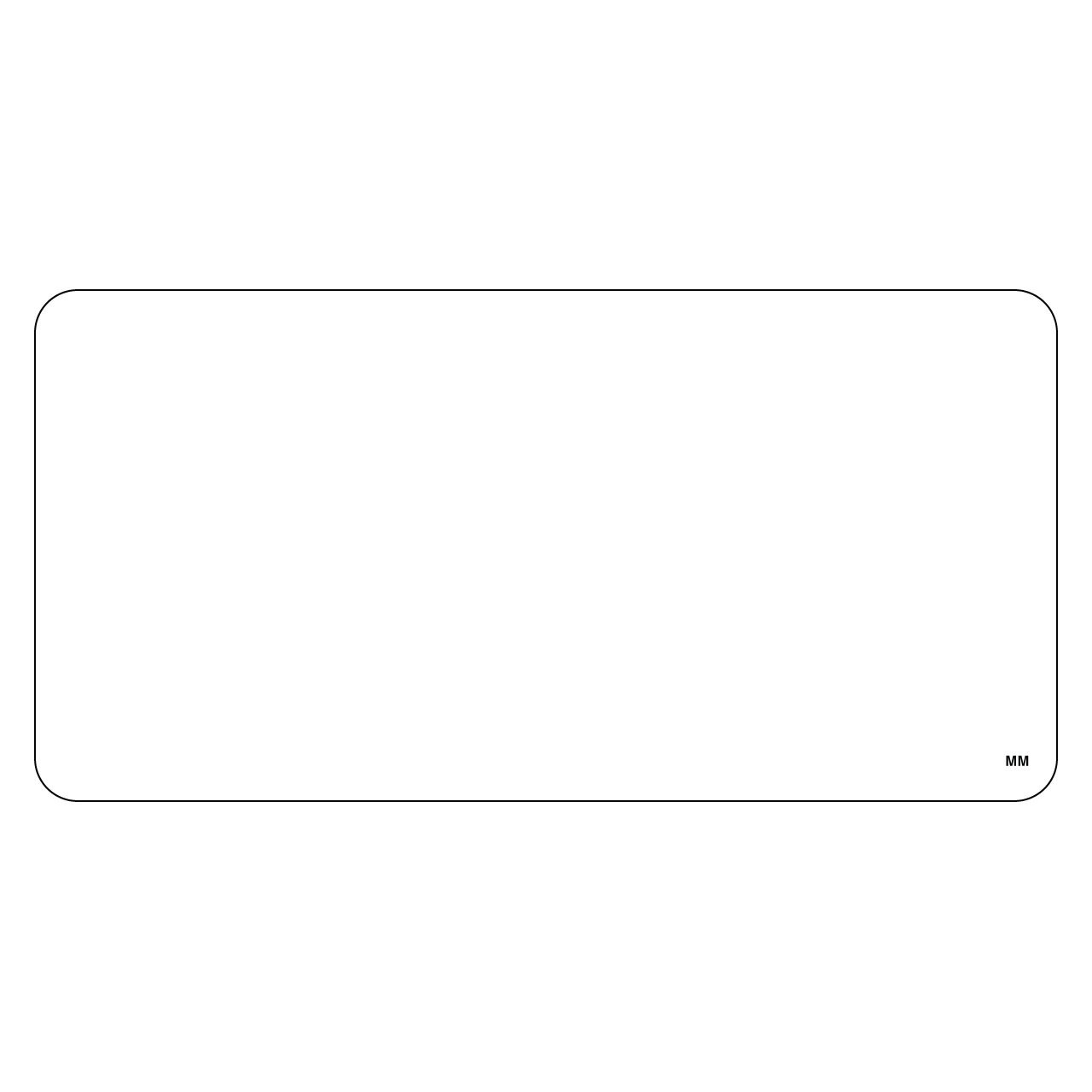 """DayMark 2"""" x 4"""" Blank Removable Label (Roll of 500)"""