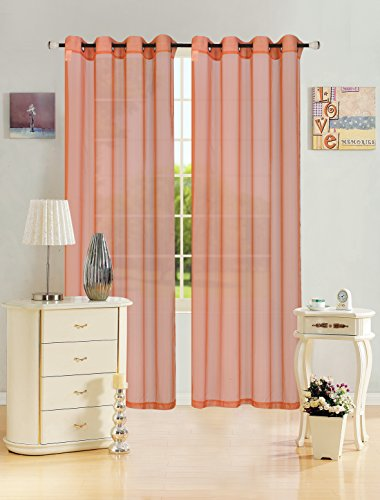 Kashi Home Leah Collection Window Sheer / Curtain / Panel 55