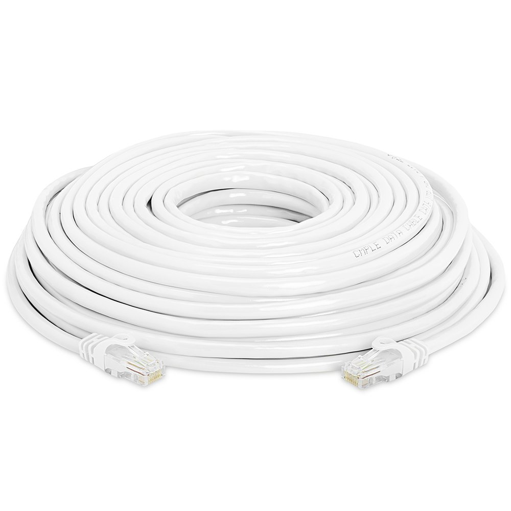 Amazon.com: Cmple - CAT 6 500MHz UTP ETHERNET LAN Network Cable -75 FT White: Computers & Accessories