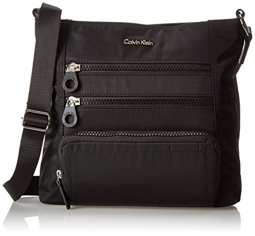 Calvin Klein Key Item Double Zip Nylon Crossbody (Key Item Cross Body)