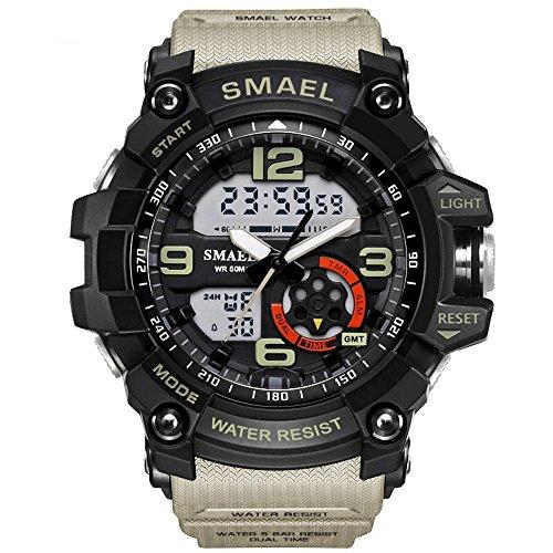 PALADA Men's Military Sport Wrist Watch Quartz Dual Movement with Analog-Digital Display Watches for Men - Watch Digital Quartz