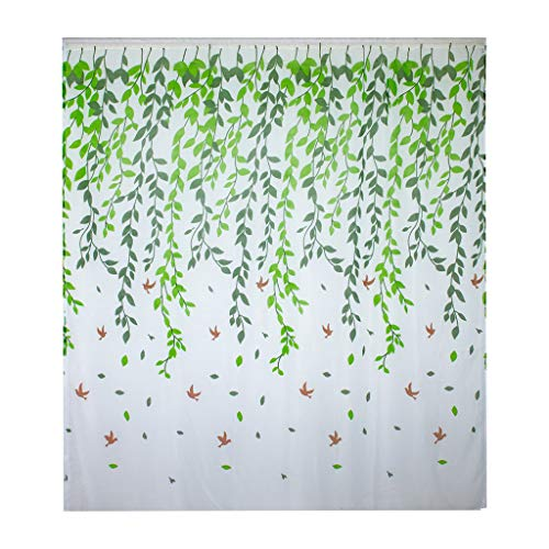 ANJUNIE Voile Window Curtain , Long Bedroom Sheer Curtain for Living Room Panels Rod Pocket (Green, 200cm x -