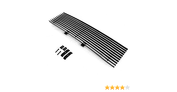 BEMOFRLAY Aluminum Horizontal Billet Grille Grill Insert Stainless Steel Compatible with 2009-2014 F150 Pikcup F66789A