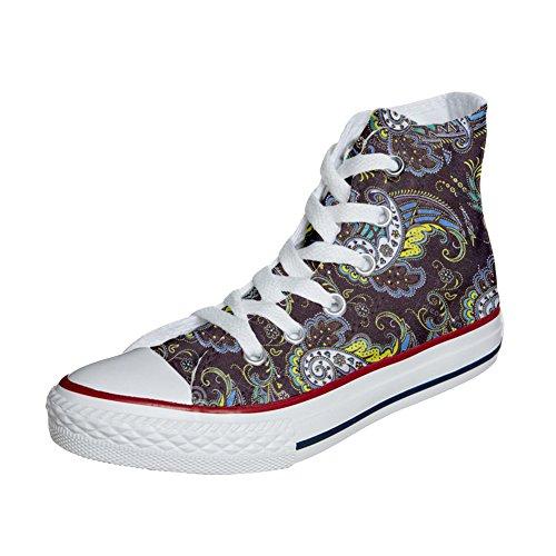 Converse All Star zapatos personalizados (Producto Artesano) Brown Paisley