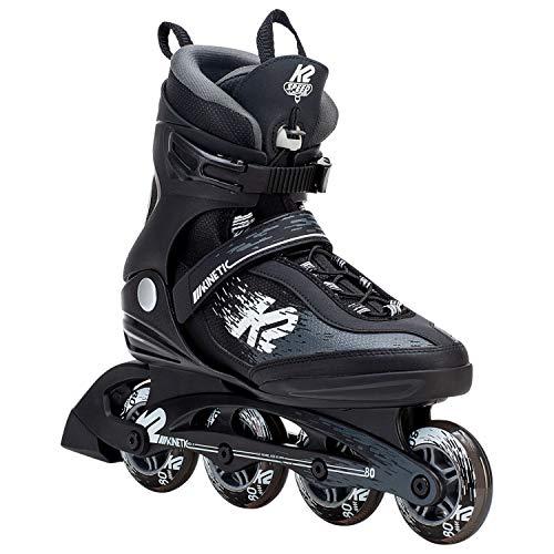 e90d57fb898 K2 Skate Men's Kinetic 80 Pro Inline Skate, Black White, 10.5