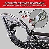 Ratchet Cable Wire Cutter, Aluminum Copper Cable