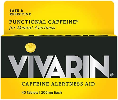 Vivarin Tablets Alertness Aid, 40 Count, 1 box