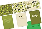 72 Note Cards - Luck of the Irish - 6 Designs - Green Envelopes Included