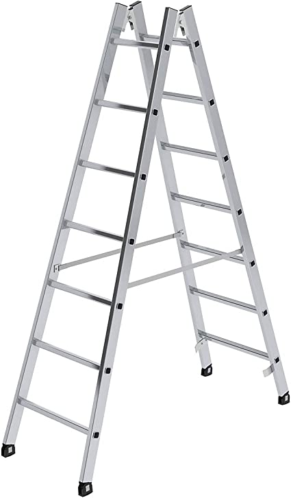 Escalera de travesaños (Seguridad, ambos lados – Peldaños 30 x 30 mm, maletero, 2 x 7 peldaños –