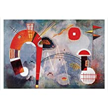 Posters: Wassily Kandinsky Poster Art Print - Rond Et Pointu (39 x 28 inches)