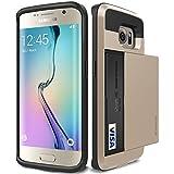 Galaxy S6 Edge Case, Verus [Damda Slide][Shine Gold] - [Heavy Duty Protection][Wallet Card Slot] For Samsung Galaxy S6 Edge