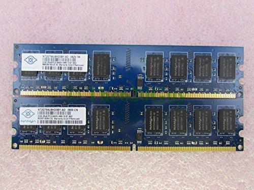 Nanya NT2GT64U8HD0BY-AD 4GB 2 x 2GB PC2-6400U DDR2 800 NonECC Desktop Memory Kit