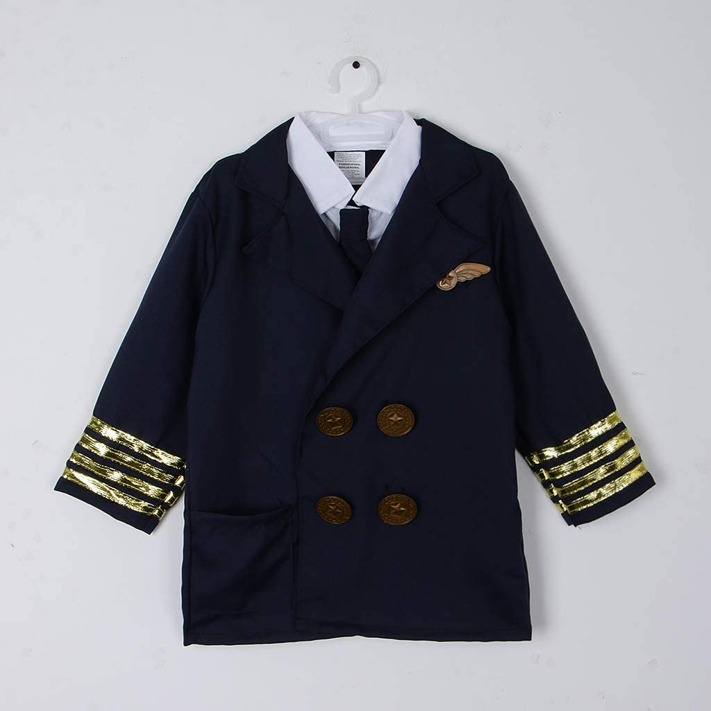 3pcs//Set Kids Pilot Aviator Suit Costumes Uniform Outfit Halloween Dress Up