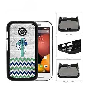 Chevron Cross And Vine Blue Green Gradient Hard Plastic Snap On Cell Phone Case Motorola Moto E