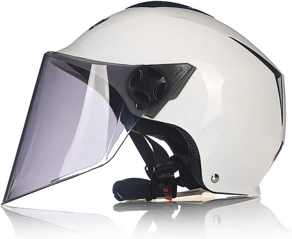 ZPTTBD Casco Abierto Protección para Motocicleta Vintage Casco Moto Jet con Visera Mujer y Hombre para Ciclomotor Scooter Bicicleta Mofa Piloto Crash Cruiser Chopper Racing Cap: Amazon.es: Hogar