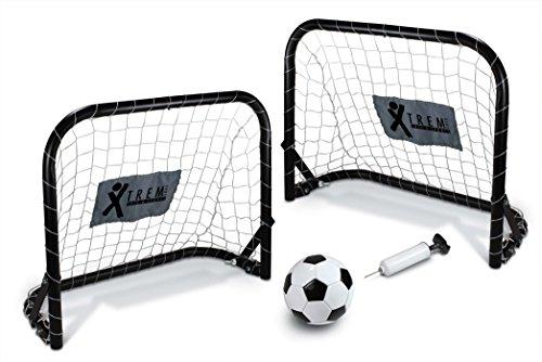 HEIMSPIEL Mini Tor Set, klappbar inklusive Fussball 1 und Ballpumpe, 60136