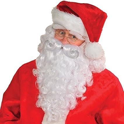 WIG /& EYEBROW SET CHRISTMAS SANTA BEARD