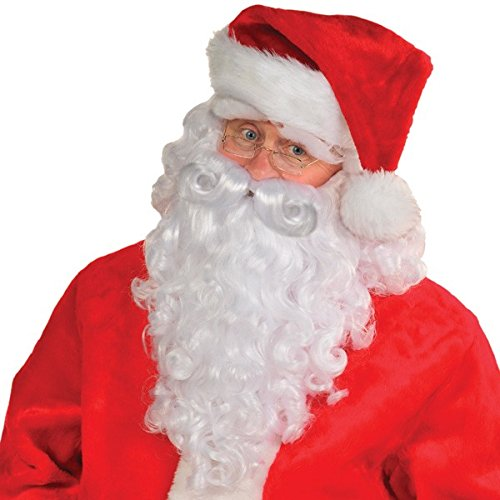 Premium Santa Wig & Beard Set | Christmas Accessory ()