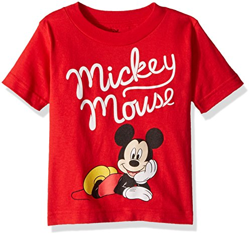T-shirt Mouse - Mickey Mouse Boys' Toddler, red 4T