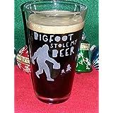 Bigfoot Custom Etched Pint Glass