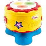 Infant Baby Bongo Drum Flash Beat - Rhythm Band Instruments,Take Along Tunes Baby Musical Toys with Lights Sounds for toddler