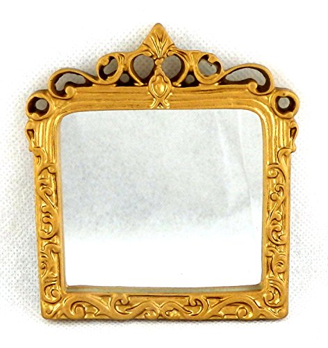 Melody Jane Dolls Houses House Miniature Accessory Ornate Mantle Mirror in Gold Frame 1:12 -