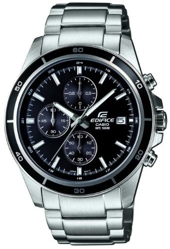 Amazon.com: Casio EFR-526D-1AVUEF Mens Edifice Silver Steel Bracelet Watch: Watches