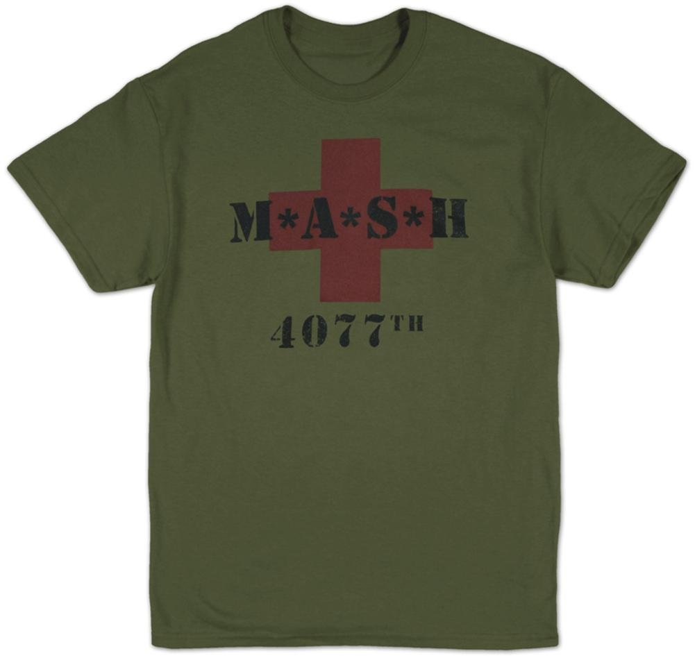 MASH 4077th MASH Vintage Green T-shirt Tee Large