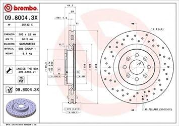 Set of 2 BREMBO DDB1D0 Bremsscheiben