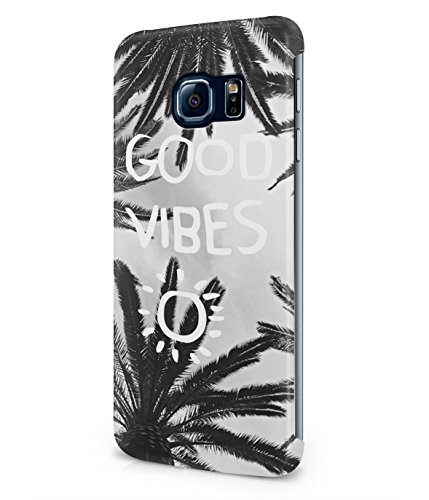 Good Vibes Only Grunge Palm Trees California Summer Plastic Snap-On Case Cover Shell For Samsung Galaxy S6 EDGE