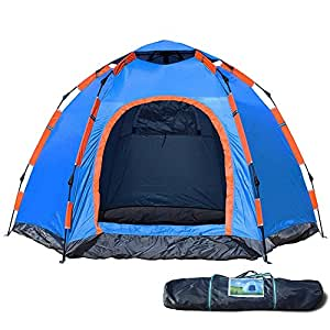 wnnideo instant family 2 3 person tent automatic pop up tents waterproof for. Black Bedroom Furniture Sets. Home Design Ideas