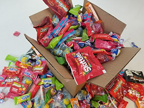 The Ultimate Care Halloween Package 220+ Candy! Assorted Party Mix Candy incl. Mike & Ike Hi Chew Starburst & Skittles Brachs Abra Cabubble Cherry Super Bubble Gum Laffy Taffy Sweetarts (Sweet Tarts Halloween Candy)