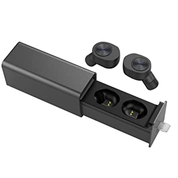 SYW Auricular Bluetooth Auriculares inalambricos de Banda Lateral Doble Movimiento Oreja Tipo Carga 4.2 Auriculares inalámbricos