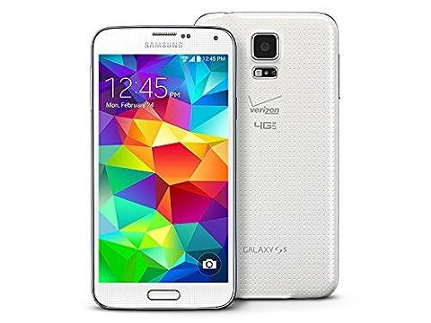 Samsung Galaxy S5 G900v 16GB Verizon Wireless CDMA Smartphone - Shimmery White (Unlocked Cdma Phone Verizon)