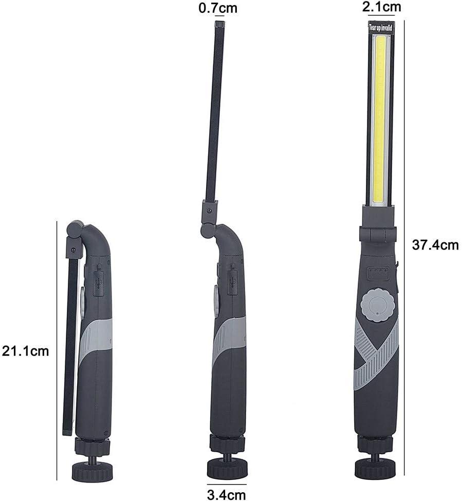 LED Arbeitsleuchte Wiederaufladbar COB Werkstattlampe,LUXNOVAQ Faltbare USB Handlampe Inspektionslampe Tragbare Taschenlampe Arbeitslampe mit Drehschalter /& Schwenk Magnetischer Basis f/ür Mechaniker