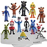 Bonbon FNAF 12 Pieces Toy Figure Set Five Night at Freddy's style Play Set