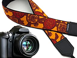 Camera strap Turtle. Red and orange DSLR camera strap. Stylized padded camera straps. Finds by InTePro code 00274