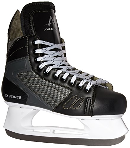 American Athletic Shoe Men's Ice Force Hockey Skates, Black, 7 Black Mens Ice Skates