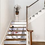 Shan-S Merry Christmas 3D Simulation Stair Sticker