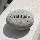 Gratitude Engraved Stones Natural Beach Pebble Inspirational Word Stones