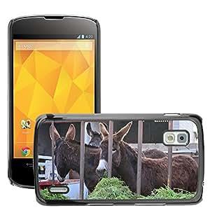 hello-mobile Etui Housse Coque de Protection Cover Rigide pour // M00136786 Burros Mallorca Animales Campo // LG Nexus 4 E960
