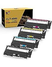 ONLYU Compatible Toner Cartridge Replacement for Samsung CLT 404S CLT-K404S CLT-C404S CLT-M404S CLT-Y404S to Used with Xpress C430W C430FW C480FW SL-C430W SL-C480W SL-C480FN (4 Packs)