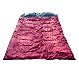 Outsunny Two-Person Double Wide Sleeping Bag, Red/Gray, 86 x 59-Inch/Medium