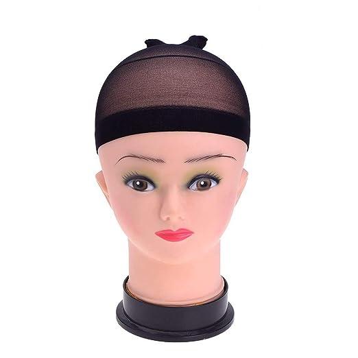 cef63b95079 Malbaba Wigs 3 Pc Wig Caps Elastic Stocking Wig Liner Cap Nylon Stretch  Mesh Nylon Caps