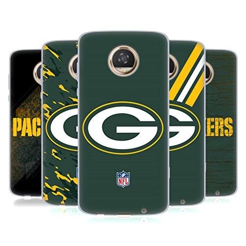 Official NFL Green Bay Packers Logo Soft Gel Case for Motorola Moto Z2 Play