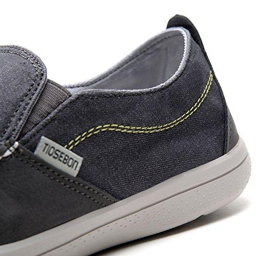 TIOSEBON HK8306, Mocassins pour Homme - Gris - 8306 Grey, 39 EU