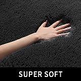 Black Soft Area Rug for Bedroom,4x6.6,Fluffy