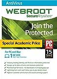 Software : Webroot Antivirus 2015 - Academic Version 1 Device 1 Year