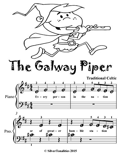 Galway Piper Beginner Piano Sheet Music Tadpole Edition