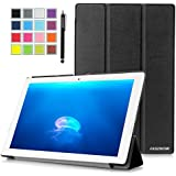 Sony Xperia Z4 Tablet Case, Pasonomi® Ultra-Slim and Ultra-light PU Leather Folio Case Stand Cover With Smart Cover Auto Wake / Sleep Feature for Sony Xperia Z4 Tablet-PC 10.1 inch (Slim Series Black)